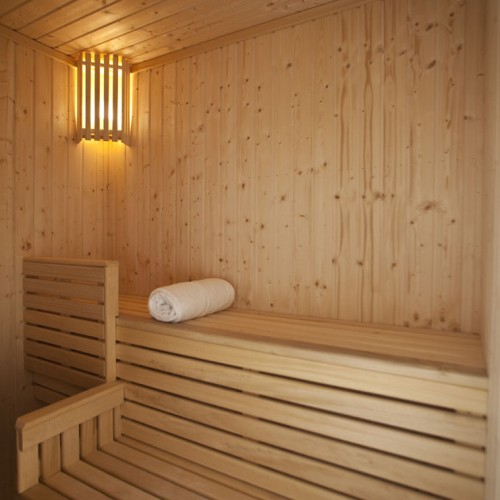 Sit, absorb the warmth, and relax in our Luxury Sauna